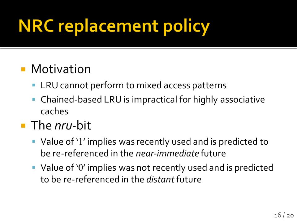 NRC replacement policy