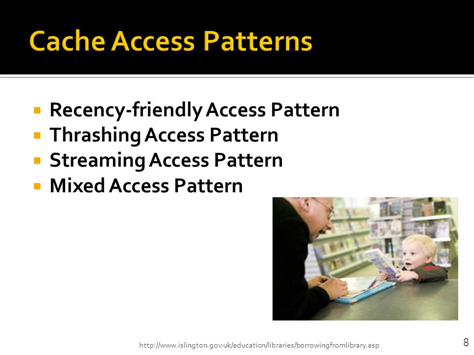 Cache Access Patterns Recency-friendly Access Pattern
