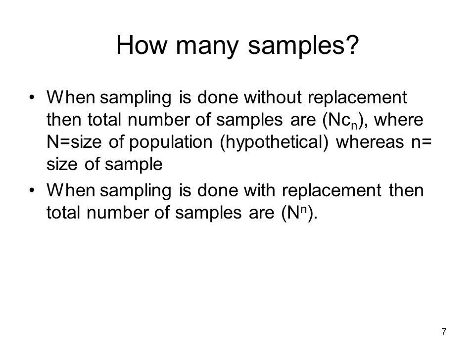 How many samples