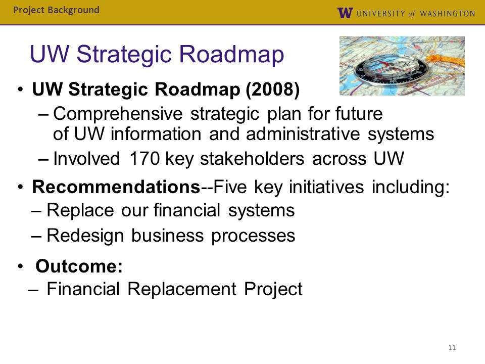 UW Strategic Roadmap UW Strategic Roadmap (2008)