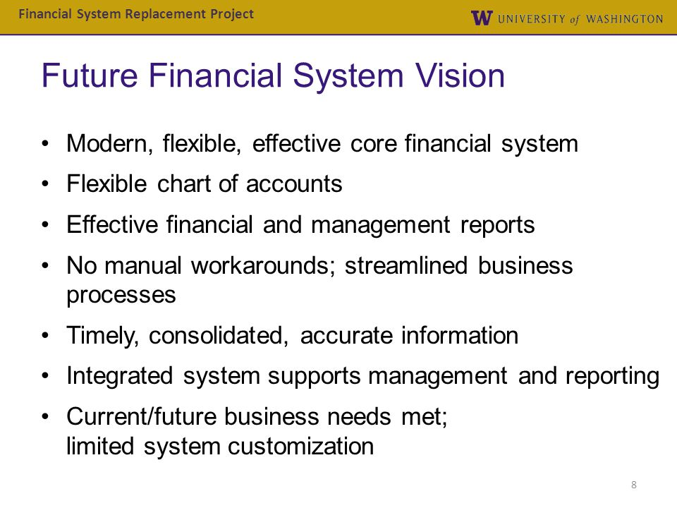 Future Financial System Vision