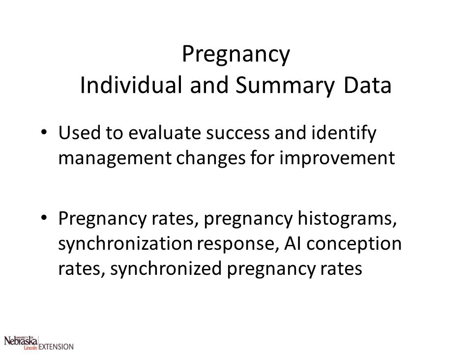 Pregnancy Individual and Summary Data