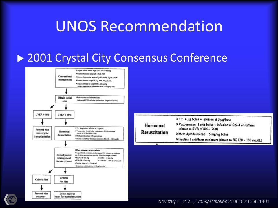 UNOS Recommendation 2001 Crystal City Consensus Conference