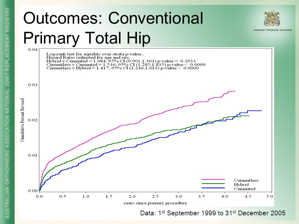 Outcomes: Conventional Primary Total Hip