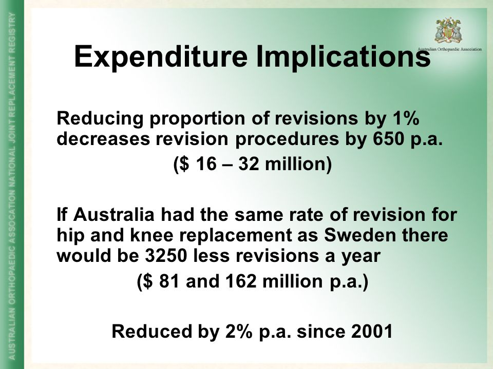 Expenditure Implications