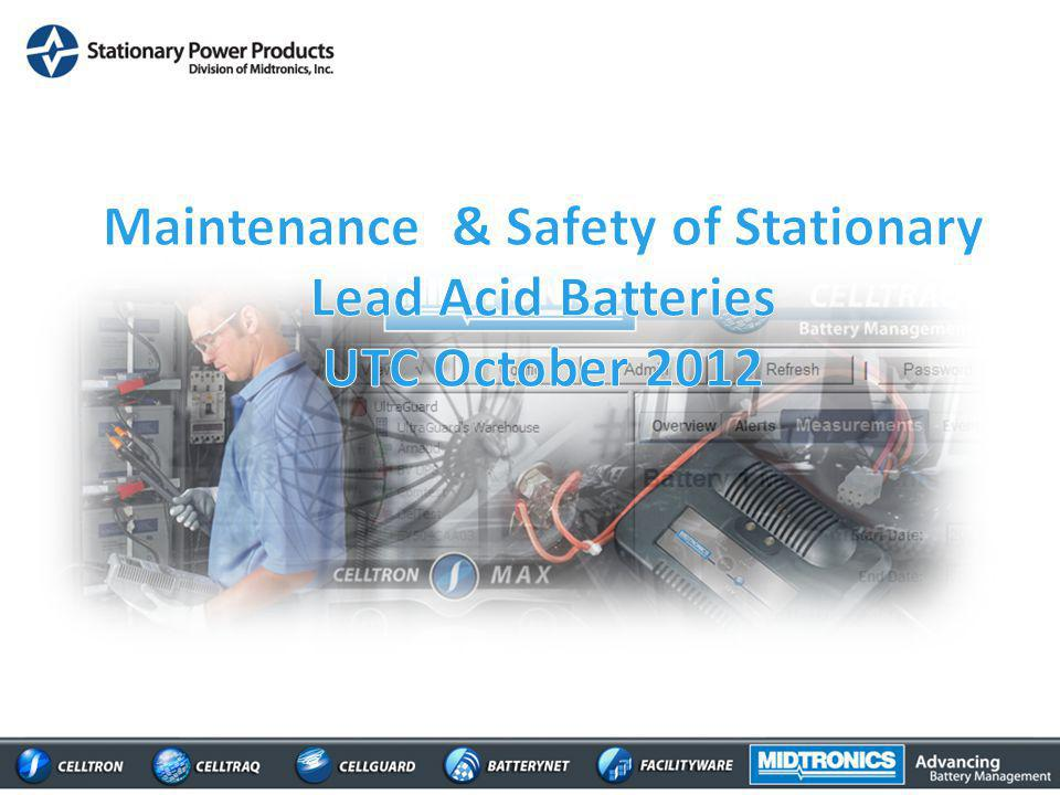 Maintenance & Safety of Stationary Lead Acid Batteries