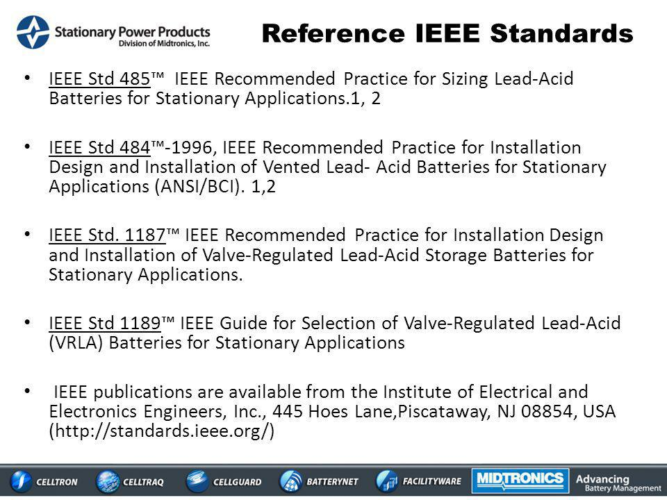 Reference IEEE Standards