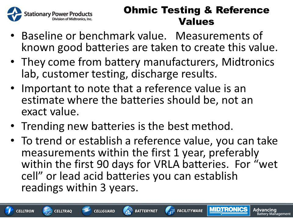 Ohmic Testing & Reference Values