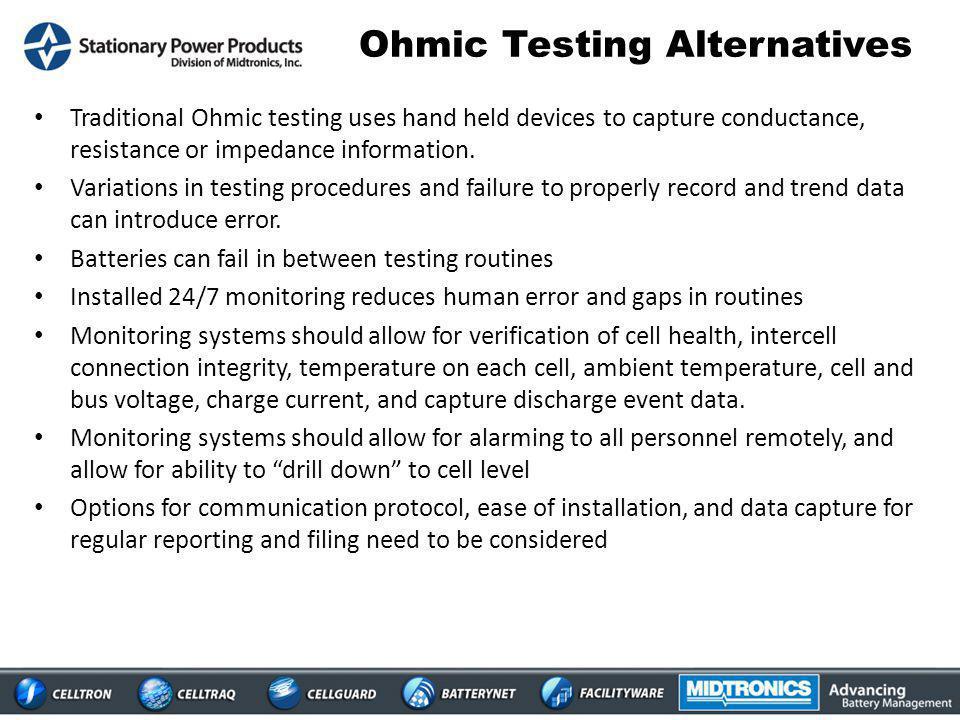 Ohmic Testing Alternatives