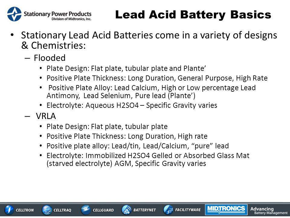Lead Acid Battery Basics