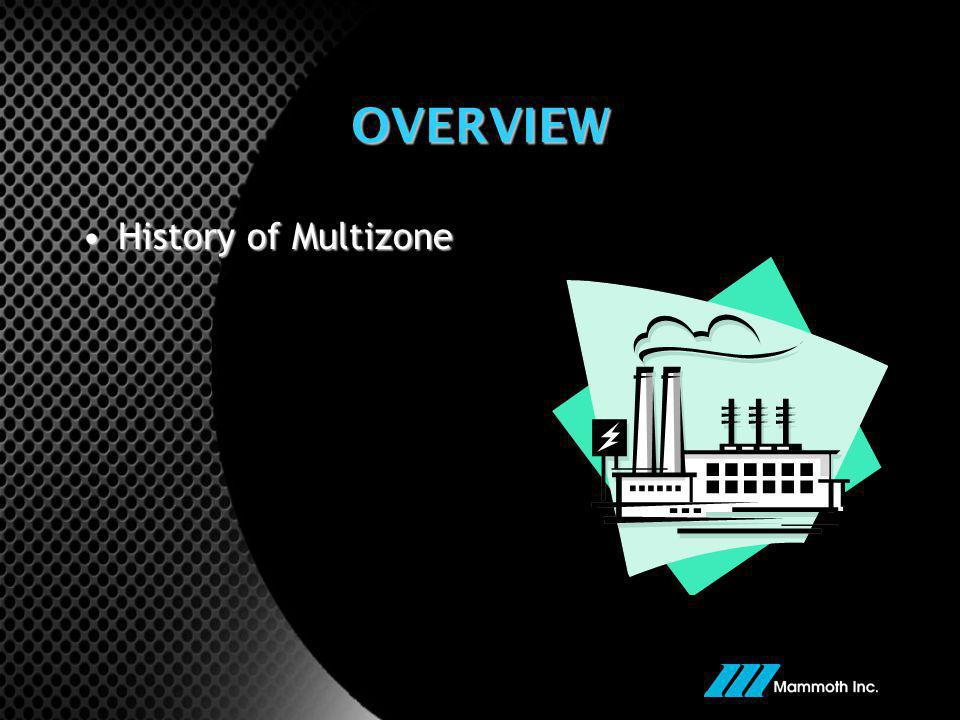 OVERVIEW History of Multizone