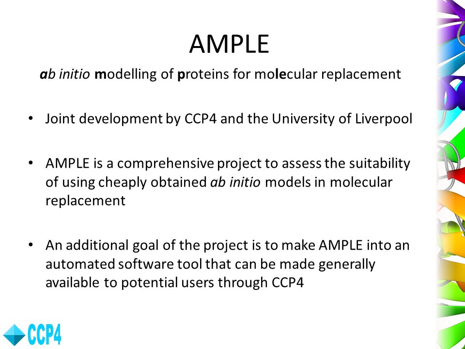 ab initio modelling of proteins for molecular replacement