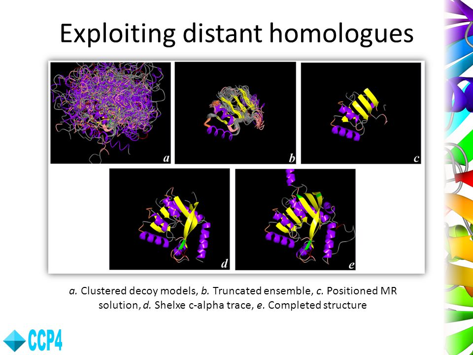 Exploiting distant homologues