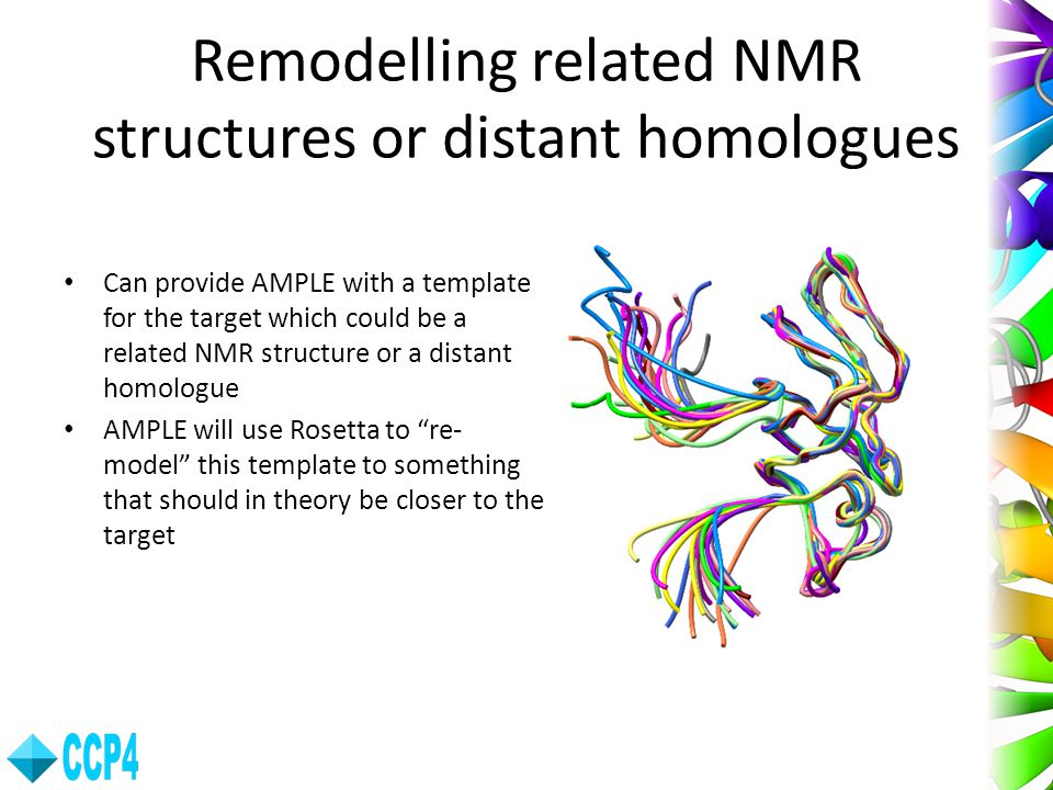 Remodelling related NMR structures or distant homologues