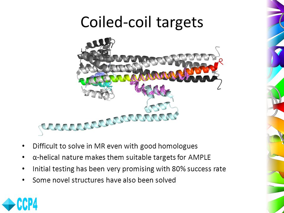 Coiled-coil targets Difficult to solve in MR even with good homologues
