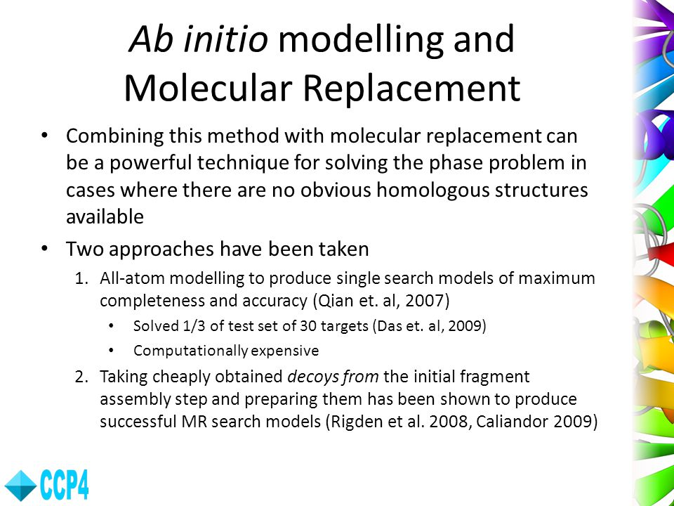 Ab initio modelling and Molecular Replacement