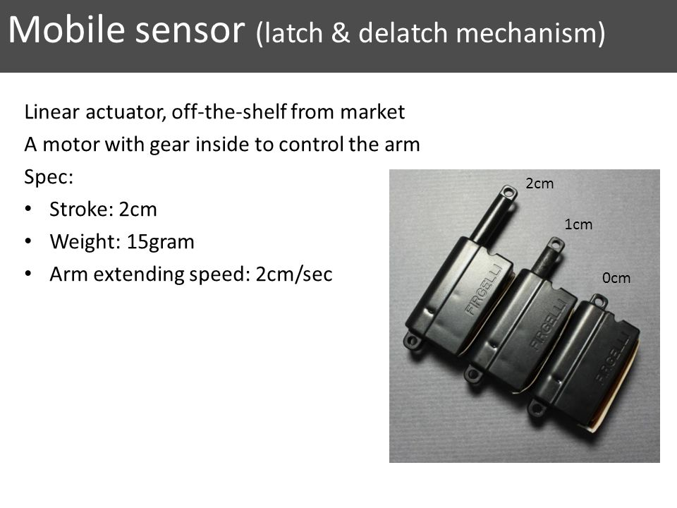 Mobile sensor (latch & delatch mechanism)