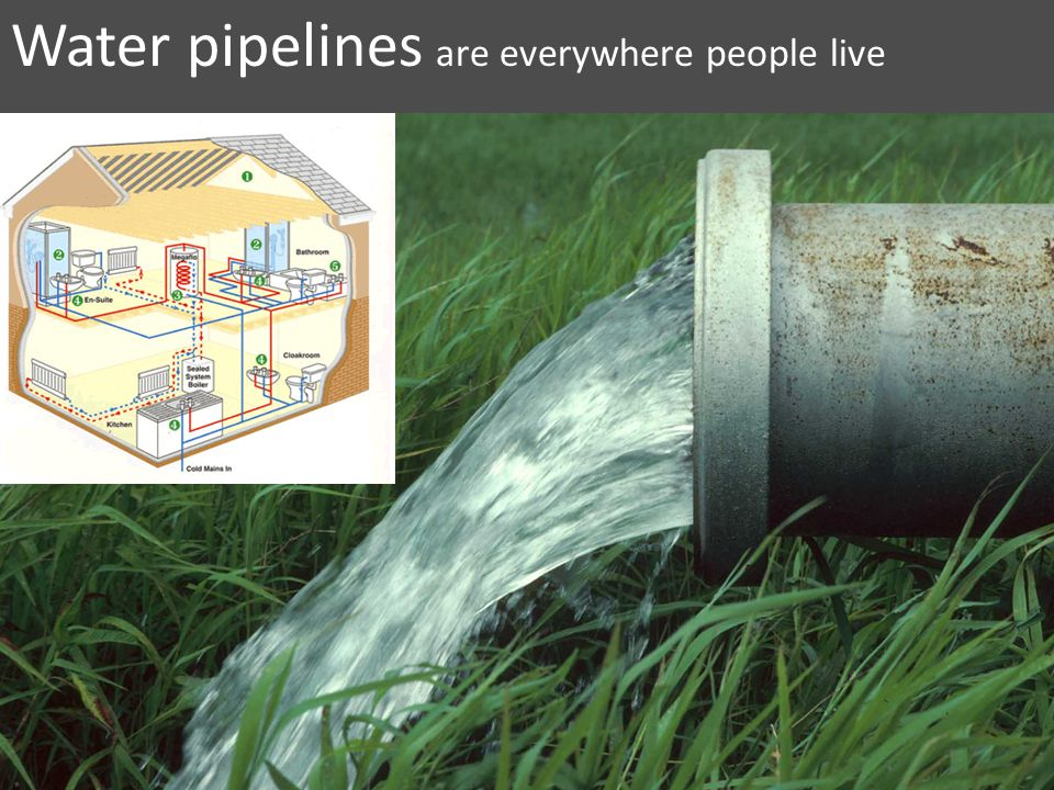 Water pipelines are everywhere people live
