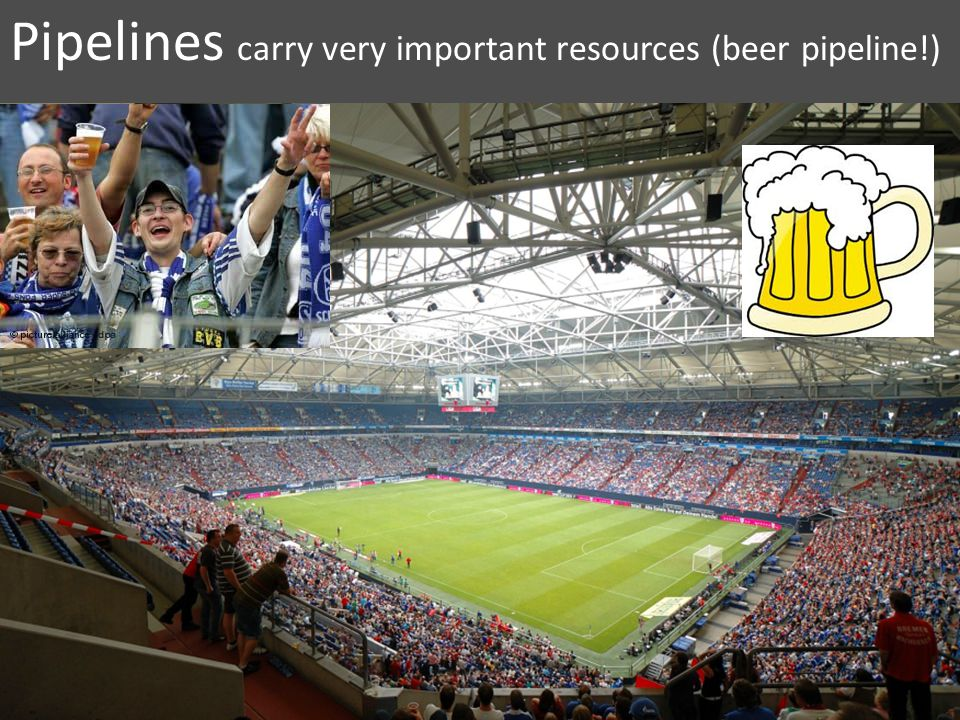Pipelines carry very important resources (beer pipeline!)