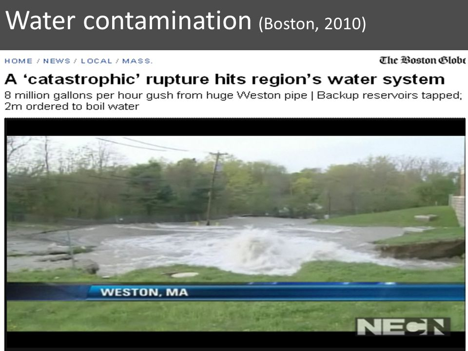 Water contamination (Boston, 2010)