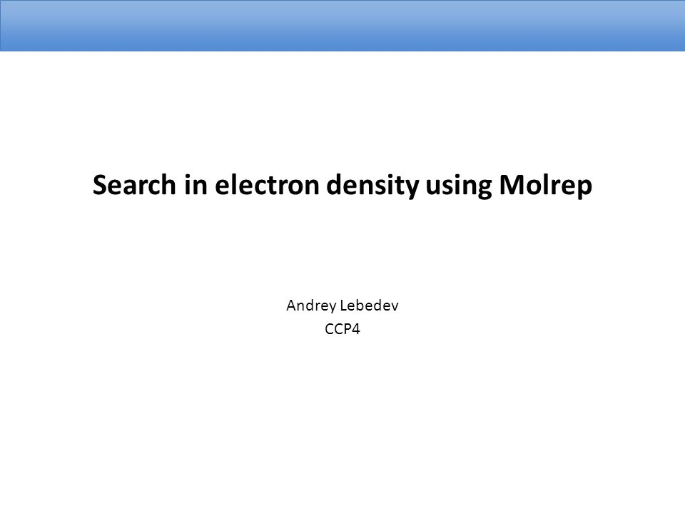 Search in electron density using Molrep