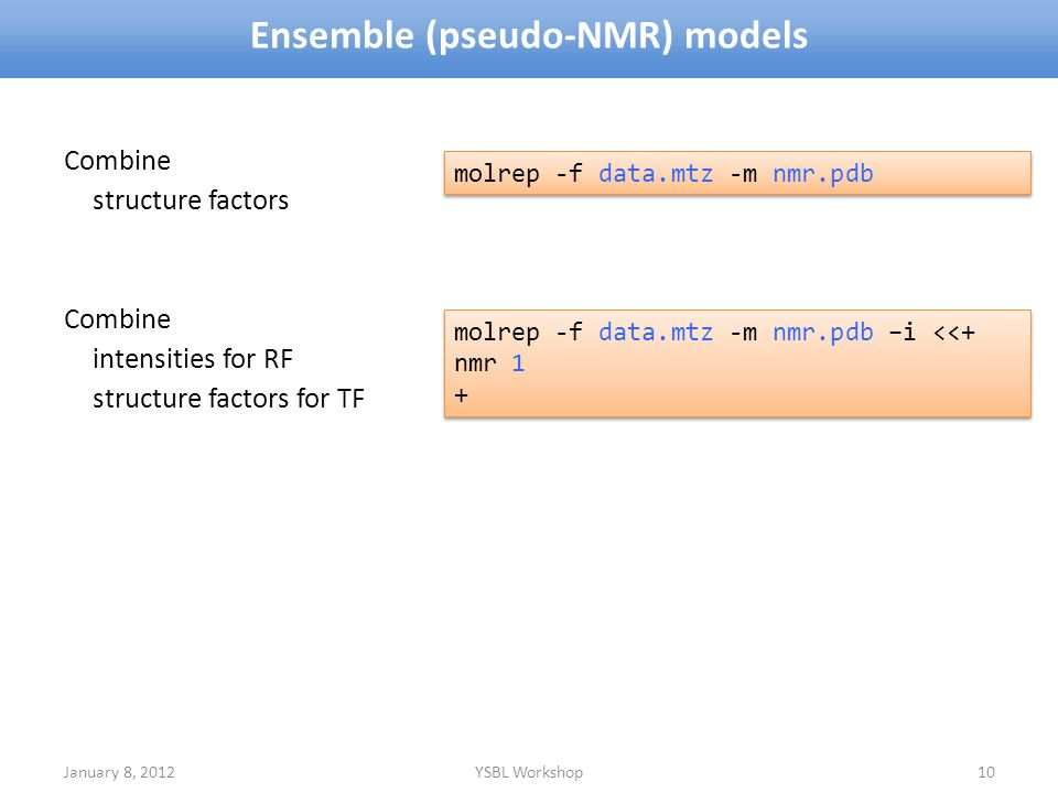 Ensemble (pseudo-NMR) models