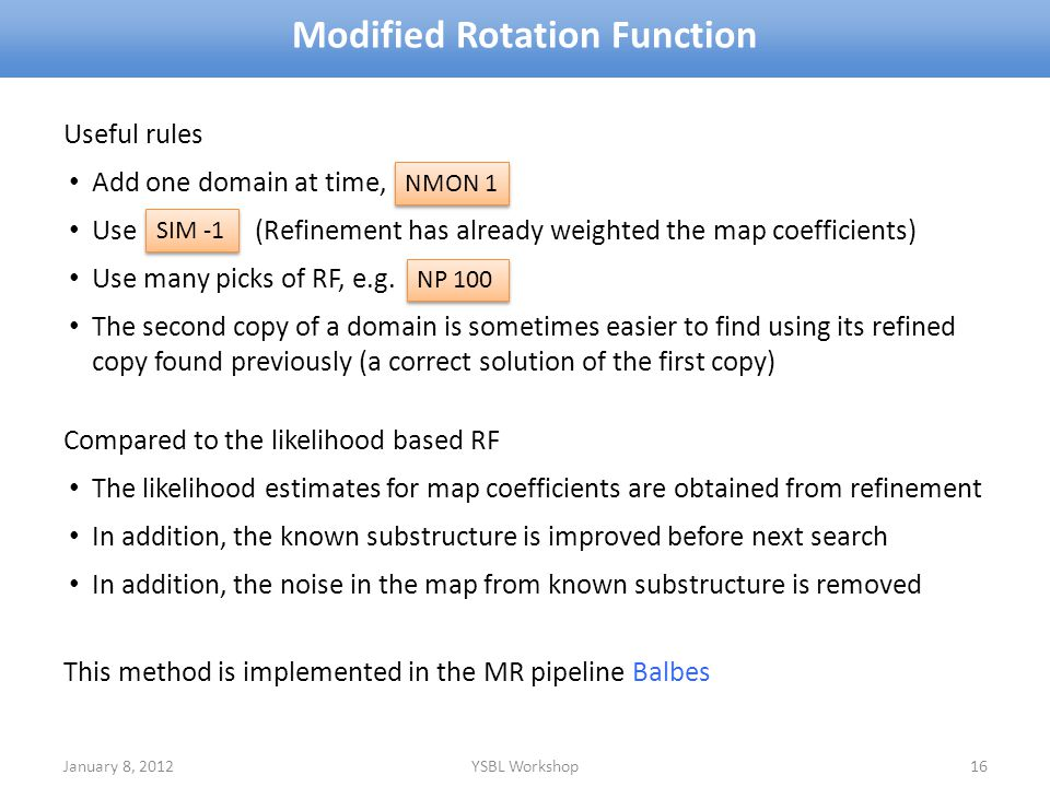 Modified Rotation Function