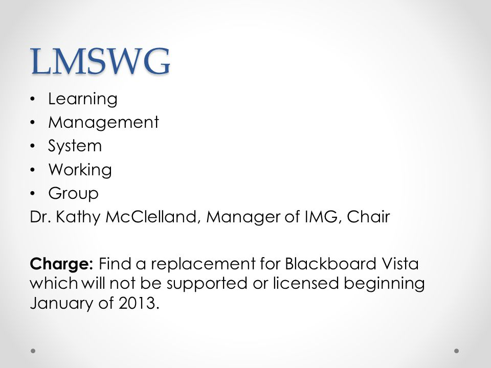 LMSWG Learning Management System Working Group
