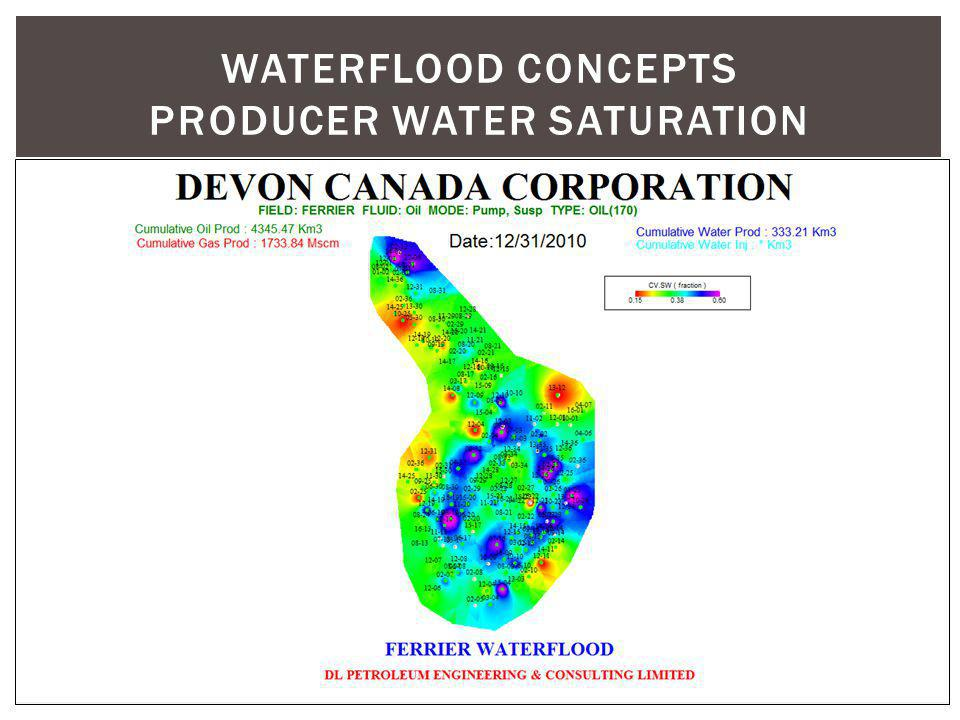 WATERFLOOD CONCEPTS producer water saturation