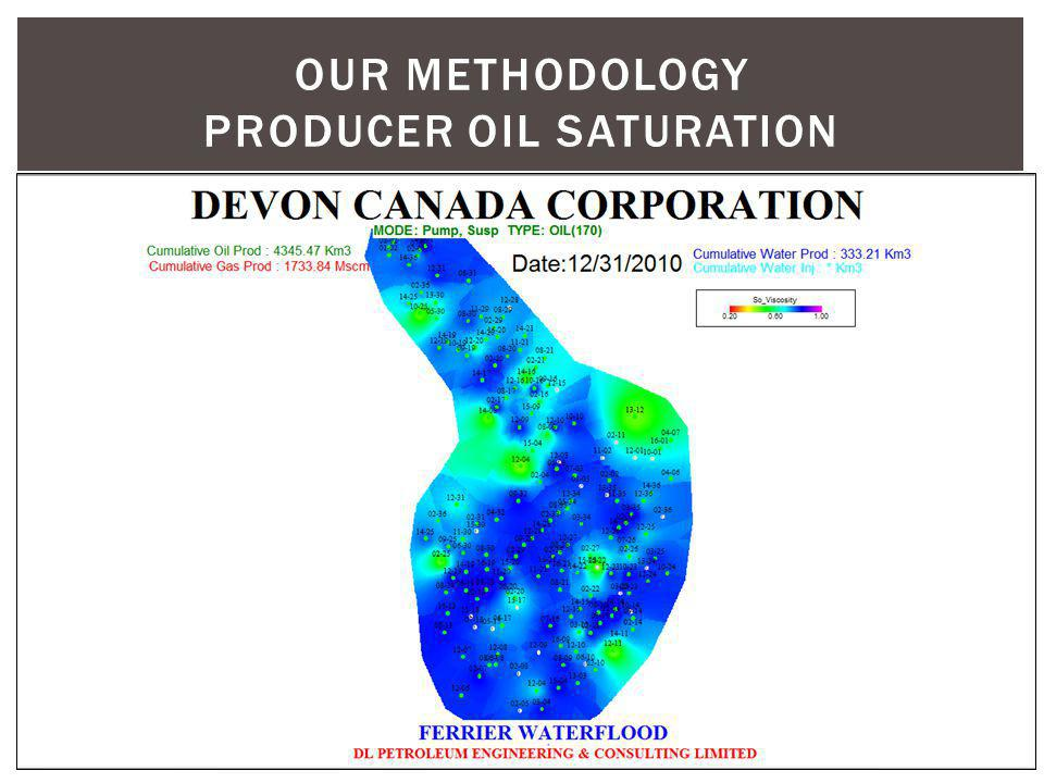 Our methodology producer oil saturation