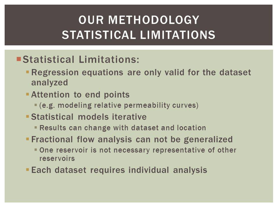 OUR METHODOLOGY Statistical Limitations