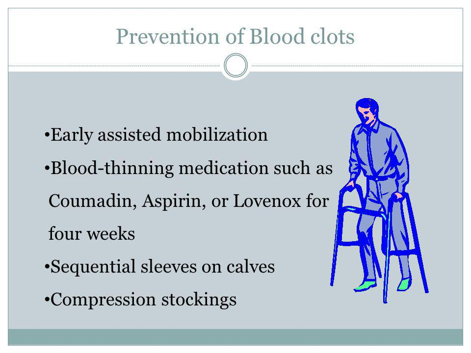 Prevention of Blood clots