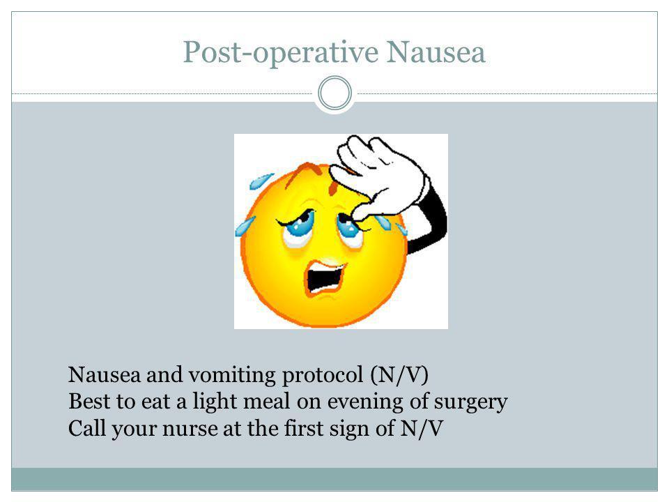 Post-operative Nausea
