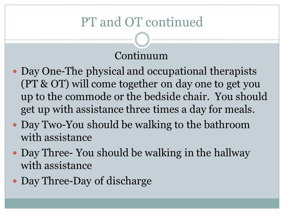 PT and OT continued Continuum