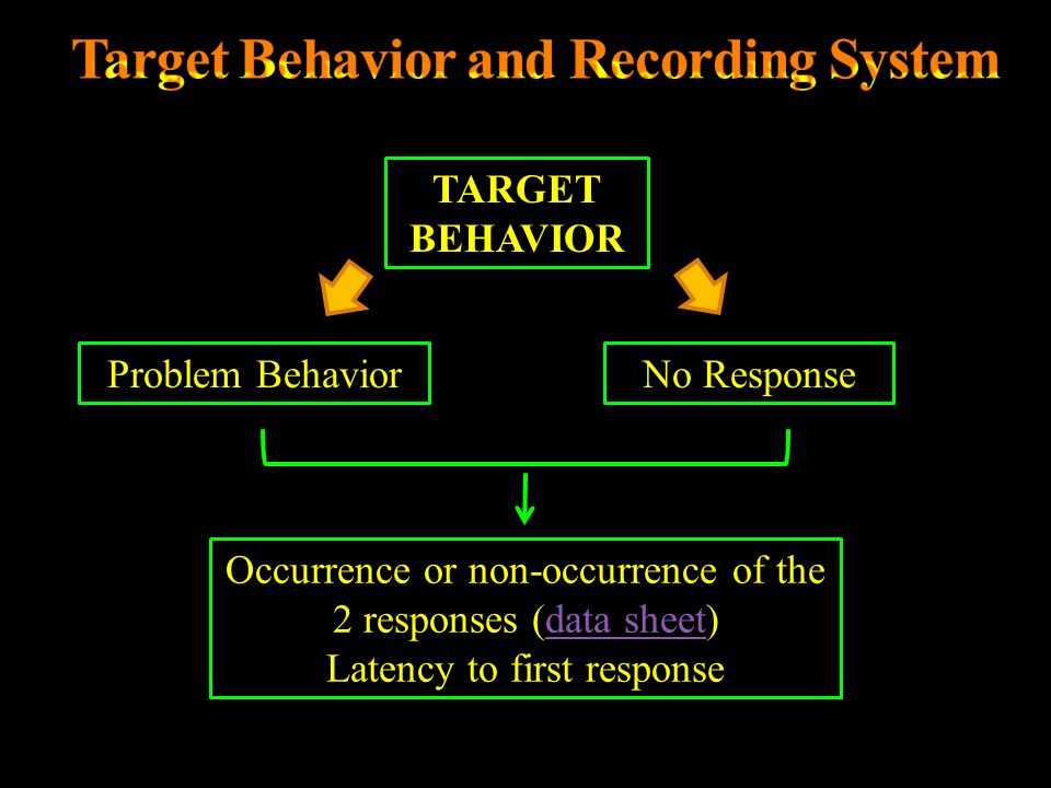 Target Behavior and Recording System