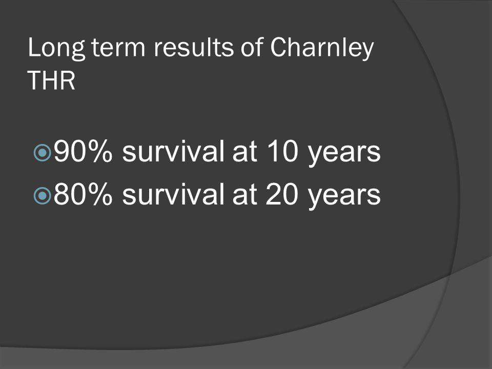 Long term results of Charnley THR
