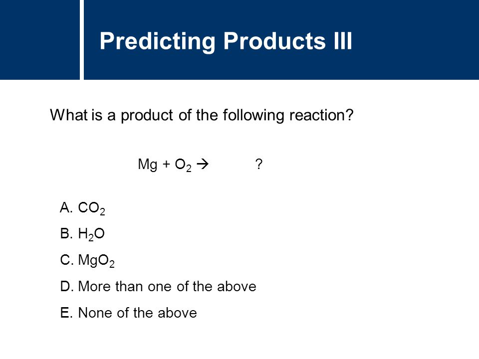Predicting Products III