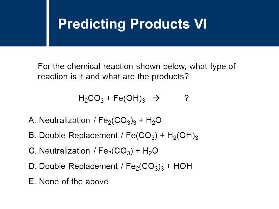 Predicting Products VI