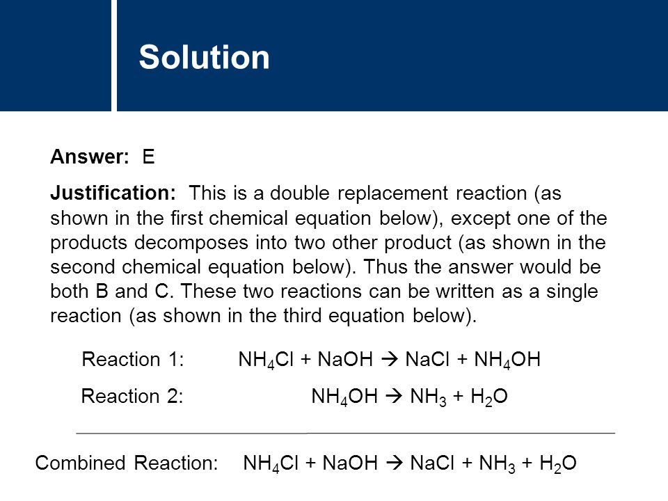 Types of Chemical Reactions – The Science Classroom |Single Displacement Reaction Formula