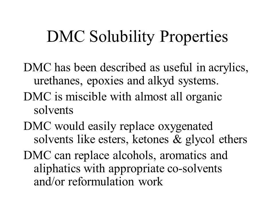 DMC Solubility Properties
