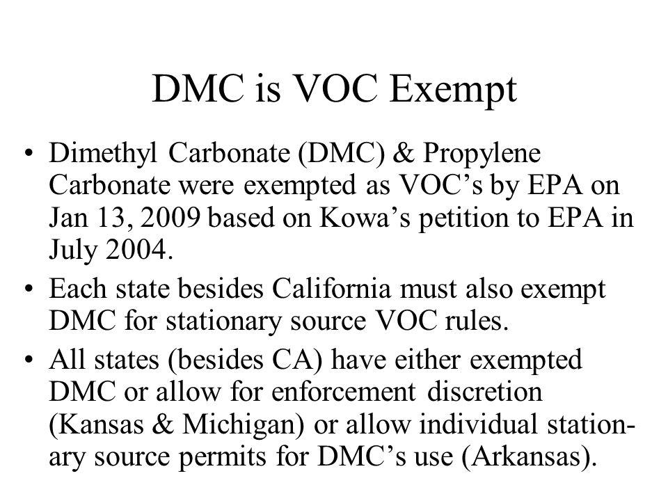 DMC is VOC Exempt