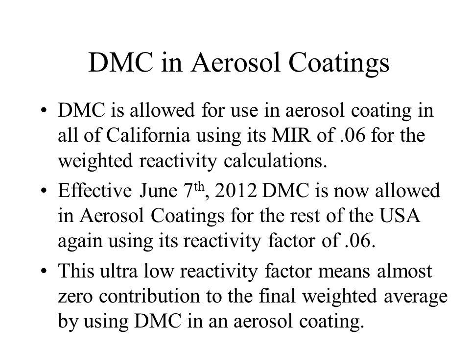 DMC in Aerosol Coatings