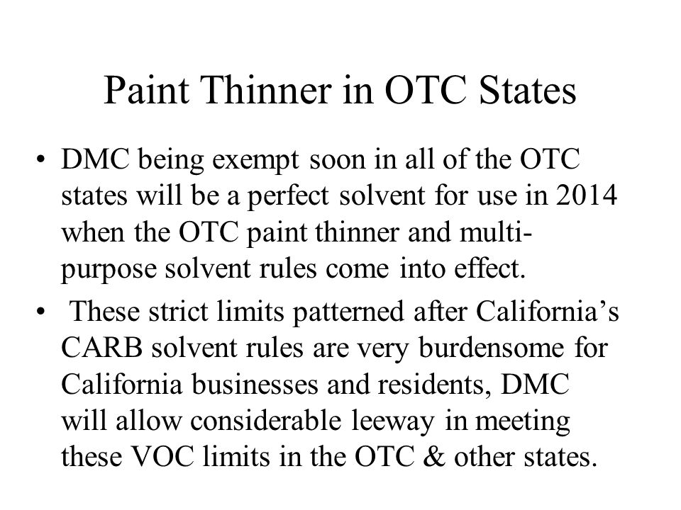 Paint Thinner in OTC States