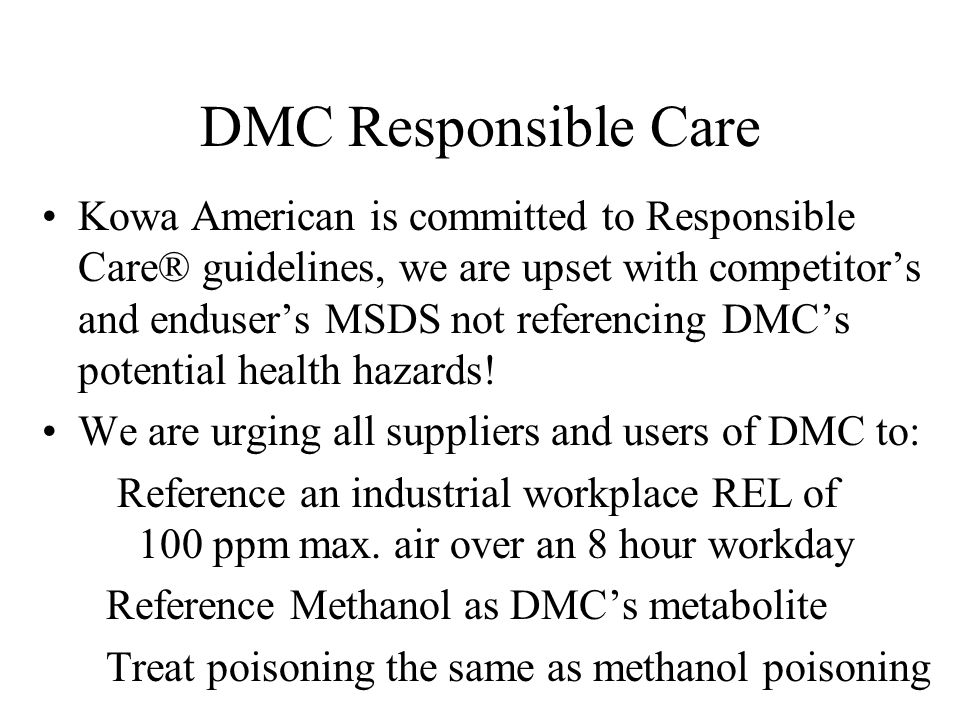 DMC Responsible Care