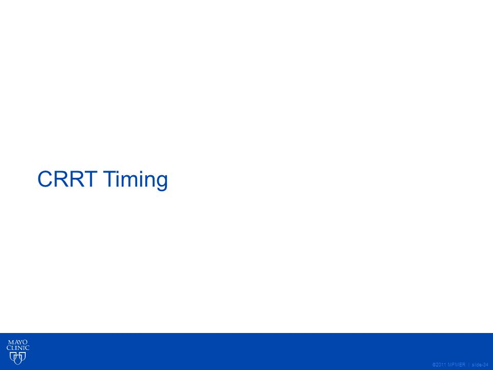 CRRT Timing