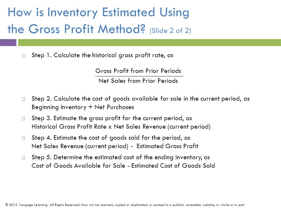 How is Inventory Estimated Using the Gross Profit Method