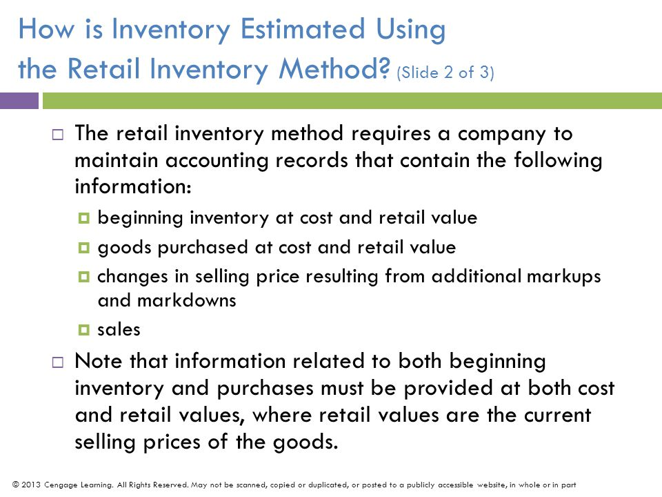 How is Inventory Estimated Using the Retail Inventory Method