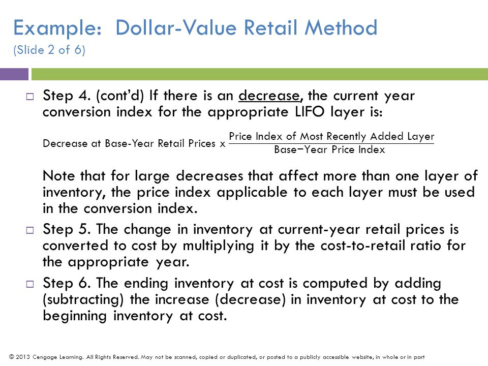 Example: Dollar-Value Retail Method (Slide 2 of 6)