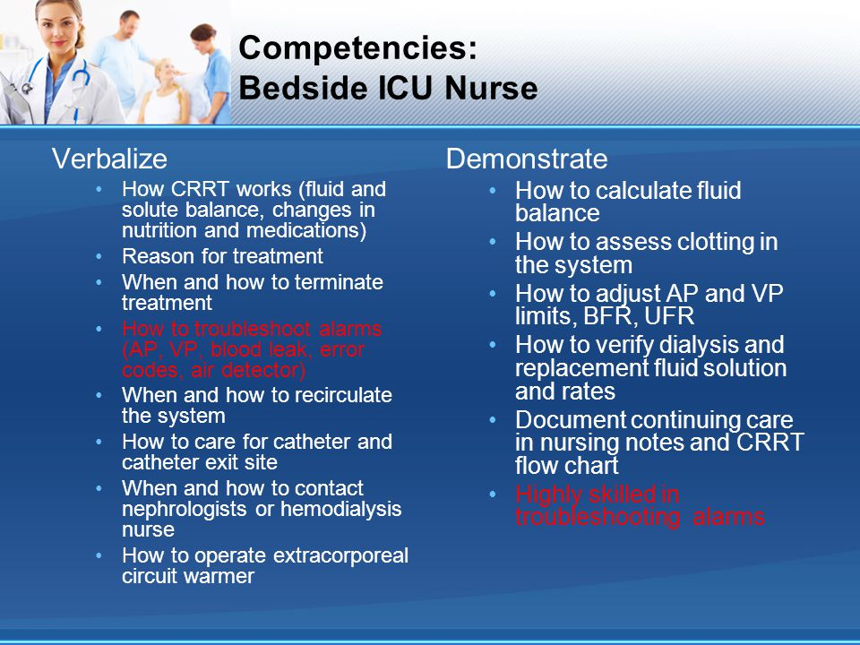 Competencies: Bedside ICU Nurse