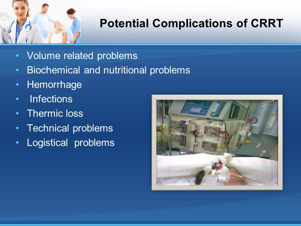 Potential Complications of CRRT